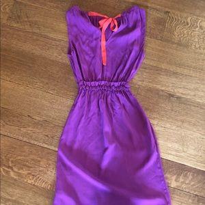 Kate Spade purple crepe dress